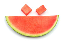 Slice Watermelon Fruit In The ...
