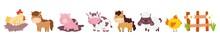 Farm Animals Domestic Wooden F...