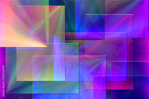 Carta da parati  Geometric abstract. Vivid colors and gradients