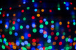 canvas print picture - Bokeh in bunt