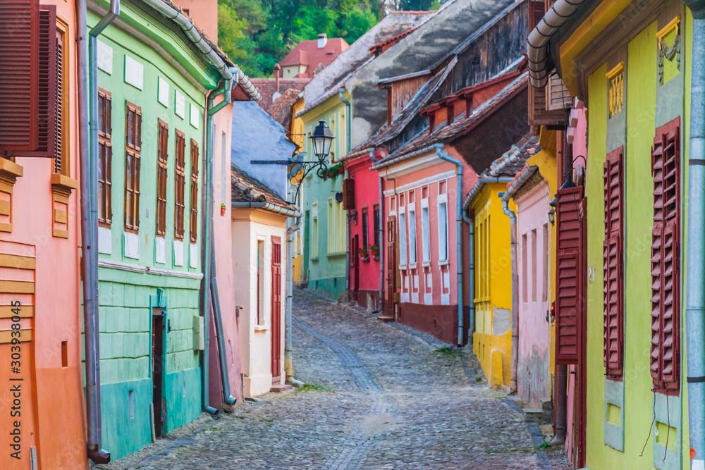 Cityscape of Sighisoara (Transylvania, Romania, Europe)