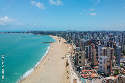 Vista aérea de Fortaleza, Ceará, Brasil Fotobehang