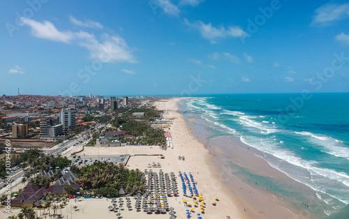 Praia do Futuro em Fortaleza, Ceará, Brasil. Vista aérea Canvas