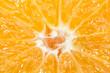the core of a cut orange close up