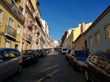 Row Of Houses In Lisbon Typica...