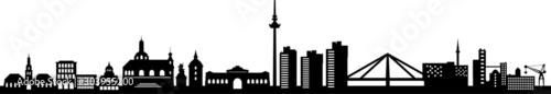 Mannheim City Skyline Vector Silhouette