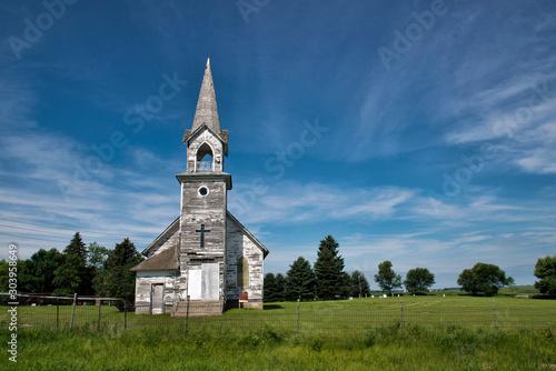Obraz na plátne old wooden church