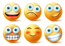 Emojis And Emoticons Face Vect...