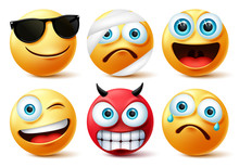 Emoticon Or Emoji Face Vector ...