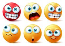Emoticons Face Vector Set. Emo...