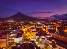 Mayon Volcano With Legazpi Cit...