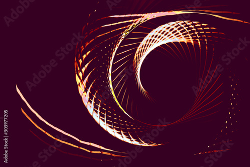 Photo sur Toile Spirale Colorful spiral abstract circular rotating spiral