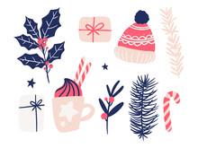 Set Of Hand Drawn Christmas Or...