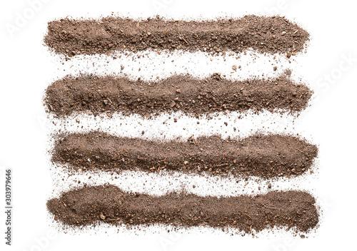 Obraz Brown soil on white background - fototapety do salonu