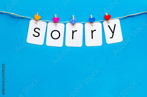 Apologise concept Wallpaper Mural