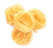 Leinwandbild Motiv Tasty uncooked pasta on white background