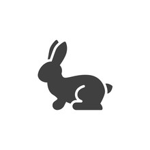 Hare, Rabbit Vector Icon. Filled Flat Sign For Mobile Concept And Web Design. Hare, Hunting Glyph Icon. Symbol, Logo Illustration. Vector Graphics