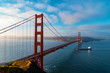 canvas print picture San Francisco's Golden Gate Bridge from Marin County