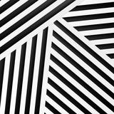 Streszczenie tło minimalne w czarno-białe paski. Geometryczny wzór wektor - 303987056