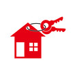 real estate logo vintage keys icon vector design symbol