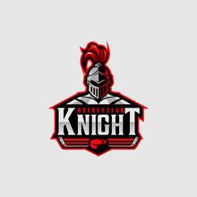 Hockey Club Logo Design With Knight Mascot. Logo Design For Hockey Club