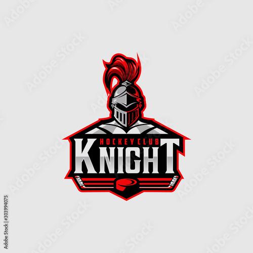 Fotomural Hockey club logo design with knight mascot