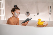 Bath At Home Woman Relaxing Ta...