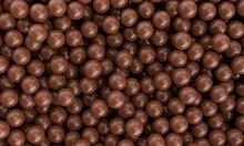 Many Flavour Sweet Delicious Chocolate Milk Sphere Ball Smooth Realistic Background Wallpaper, 3D Illustration.