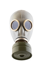 Gas Mask Isolated On White Bac...
