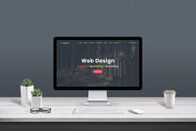 Web Design Studio Concept. Wor...
