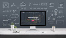Web Design Concept With Comput...