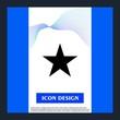 bookmark icon isolated on background
