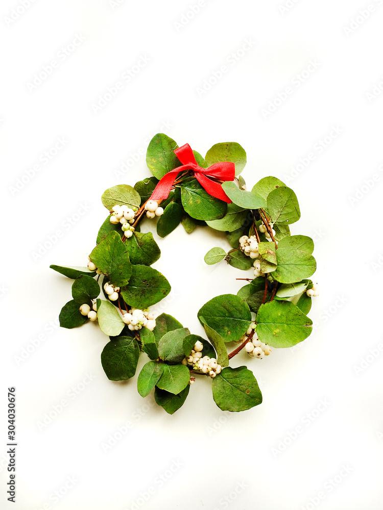 Fototapeta Mistletoe on white