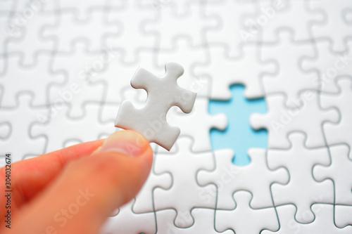 Photo パズル 最後のピースを合わせるイメージ