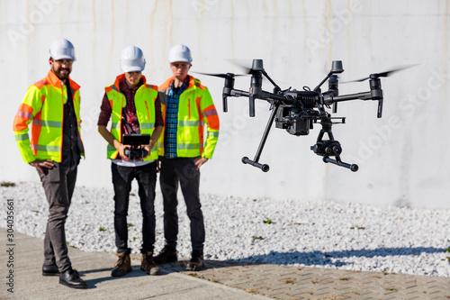 Fototapeta Industrial drone operators obraz