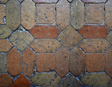 Ancient Stone Floor In Stones With Warms Tones