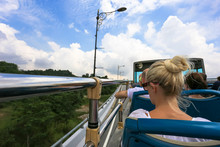 Open Bus Top View Of Tourist A...