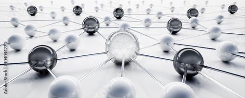 Fotografía Sphere network structure - abstract design connection design - 3D illustration