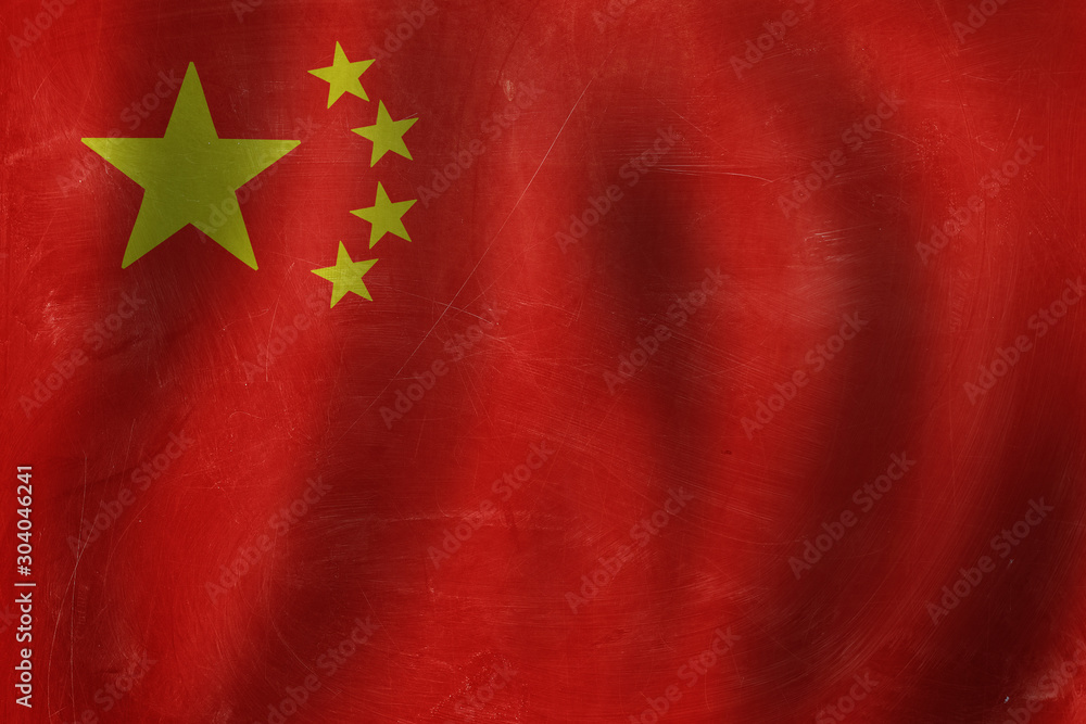 Fototapety, obrazy: China concept the People's Republic of China flag background