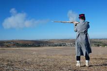 American Soldier Uniform During A Civil War