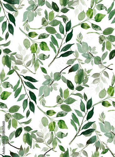 Naklejki rośliny  seamless-watercolor-pattern-with-branches