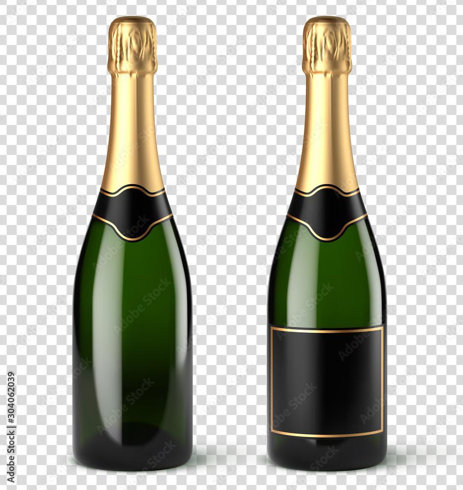 Fototapeta Bouteilles de champagne vectorielles 9