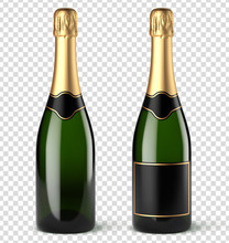 Bouteilles De Champagne Vectorielles 9