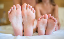 Mother And Daughter Feet