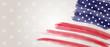 Banner with grunge USA flag