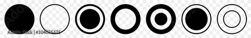 Label Circle Black | Circles | Logo Sticker | Emblem Round | Icon | Transparent Fototapet