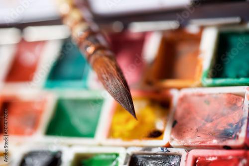 Fotografia Watercolorist tools view