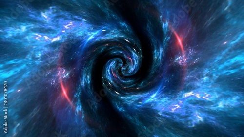 black hole, planets and galaxy. Science fiction wallpaper. Astronomy is the scientific study of the universe stars, planets, galaxies - 304078470