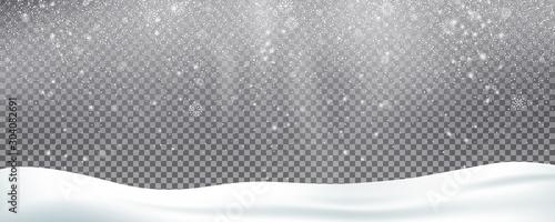 Obraz na płótnie Snow background overlay