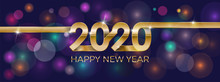 2020 Happy New Year. Banner In...